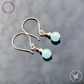 Classical Aquamarine Silver Earrings
